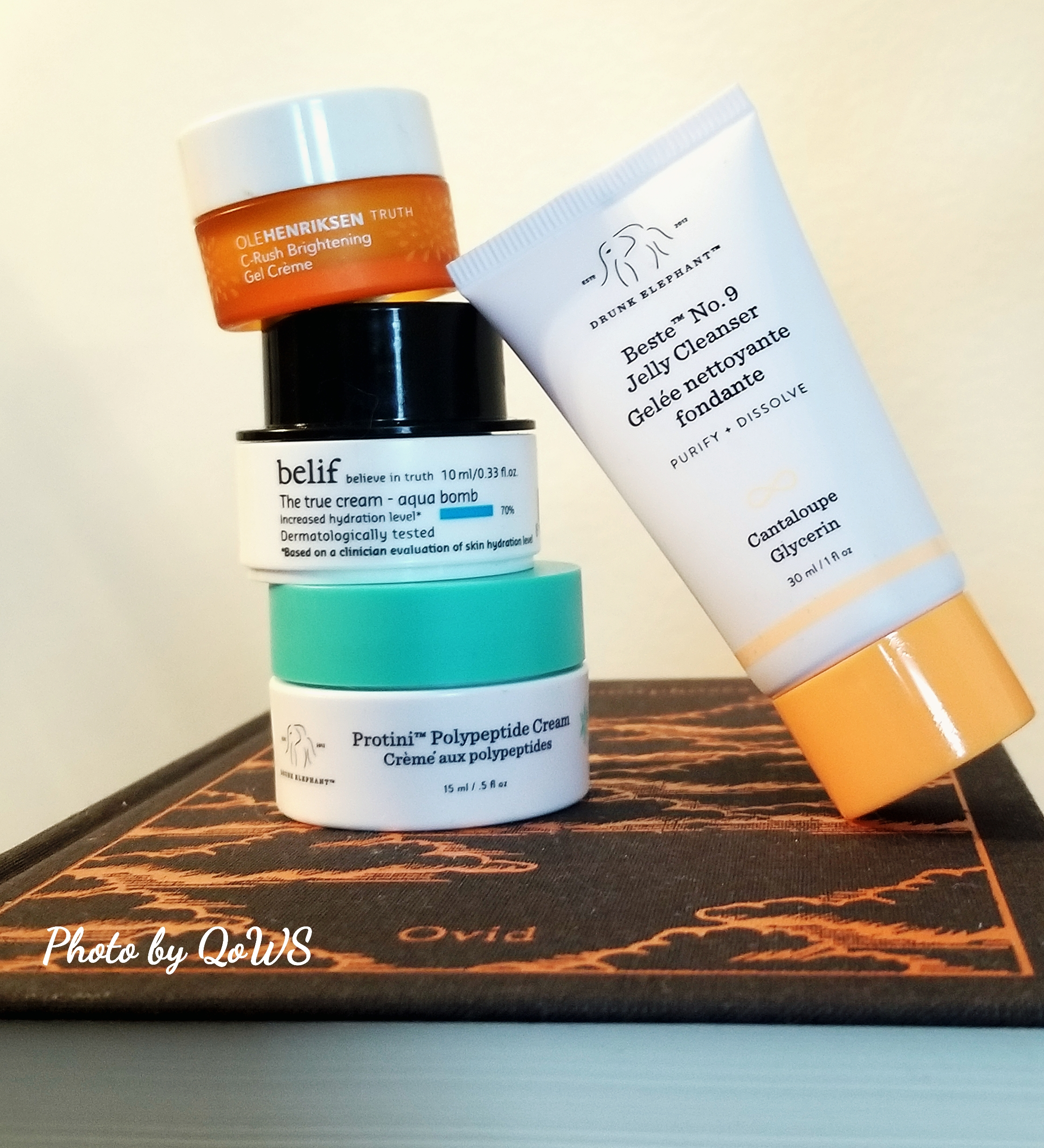 skincare samples tower drunk elephant belif ole henriksen