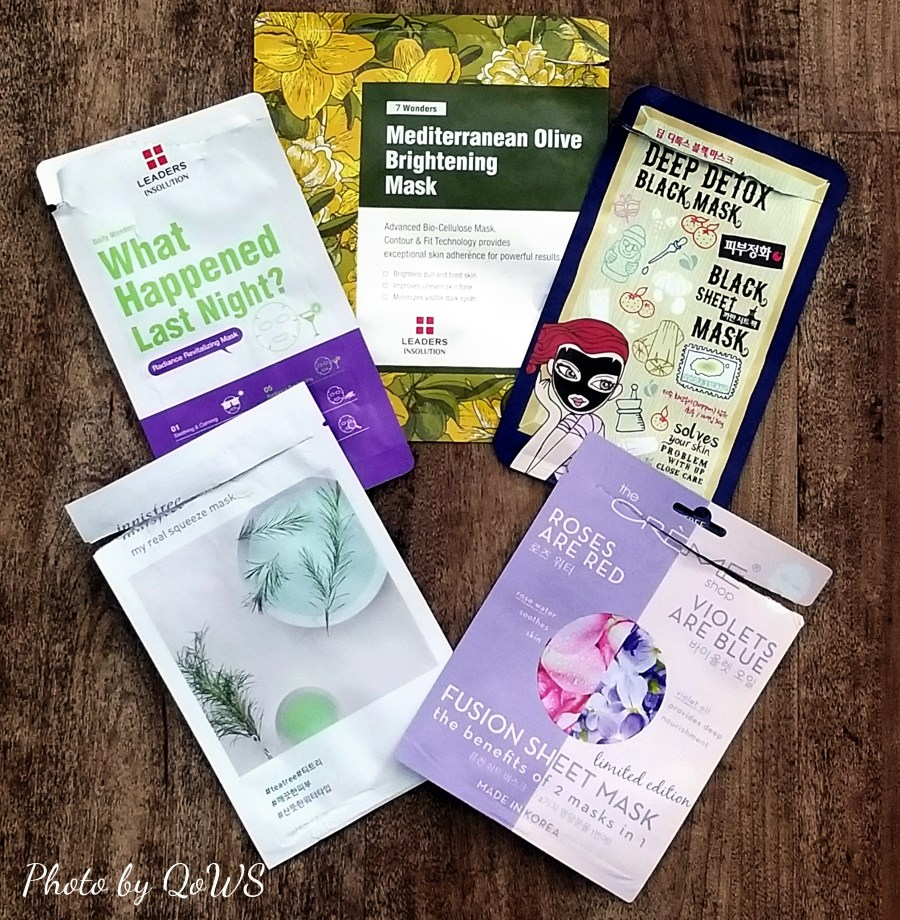 sheet mask review innisfree dewytree leaders creme shop