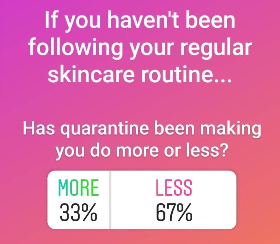 skincare quarantine routine
