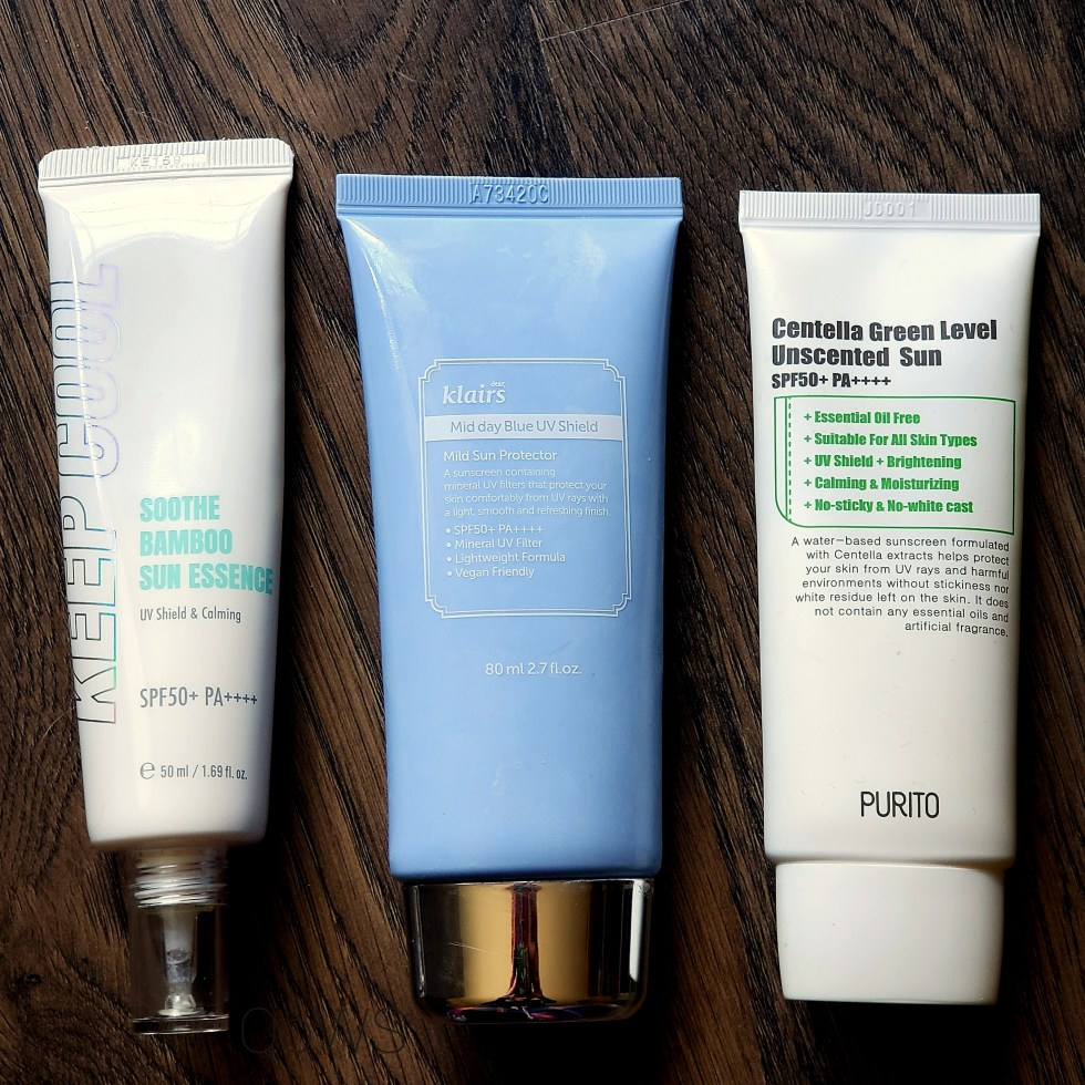keep cool klairs purito sunscreen comparison