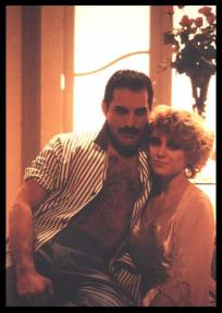 Freddie with Debbie Ash - I Was Born To Love You 1985