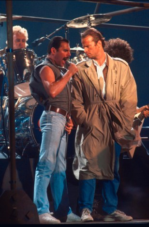 Freddie with Christopher Lambert 1986