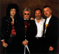 Queen with Harvey Goldsmith