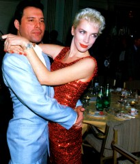 Freddie and Annie Lennox in 1987