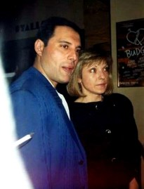 Freddie with Mary in 1988