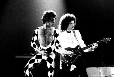 news of the world tour - concert in 1977 - Freddie and Brian