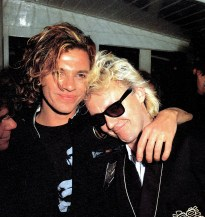 Roger and Michael Hutchence 1986