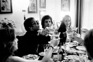 Freddie with friends in 1977