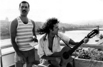 Freddie and Brian in Budapest 1986