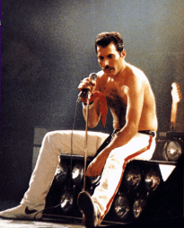 Freddie in 1982 - Hot Space Tour
