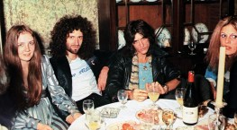 Queen at after show party with Aerosmith in 1976 (3)