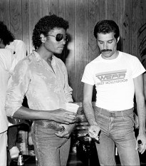 Freddie and Michael Jackson in early 80's