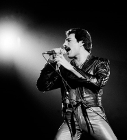 Freddie, live at the Rosemont Horizon, Rosemont, Illinois, September 19, 1980. By Paul Natkin