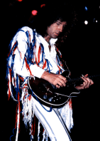 Brian May on stage in 1985