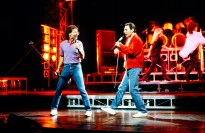 Freddie Mercury performs alongside Cliff Richard in the musical Time4