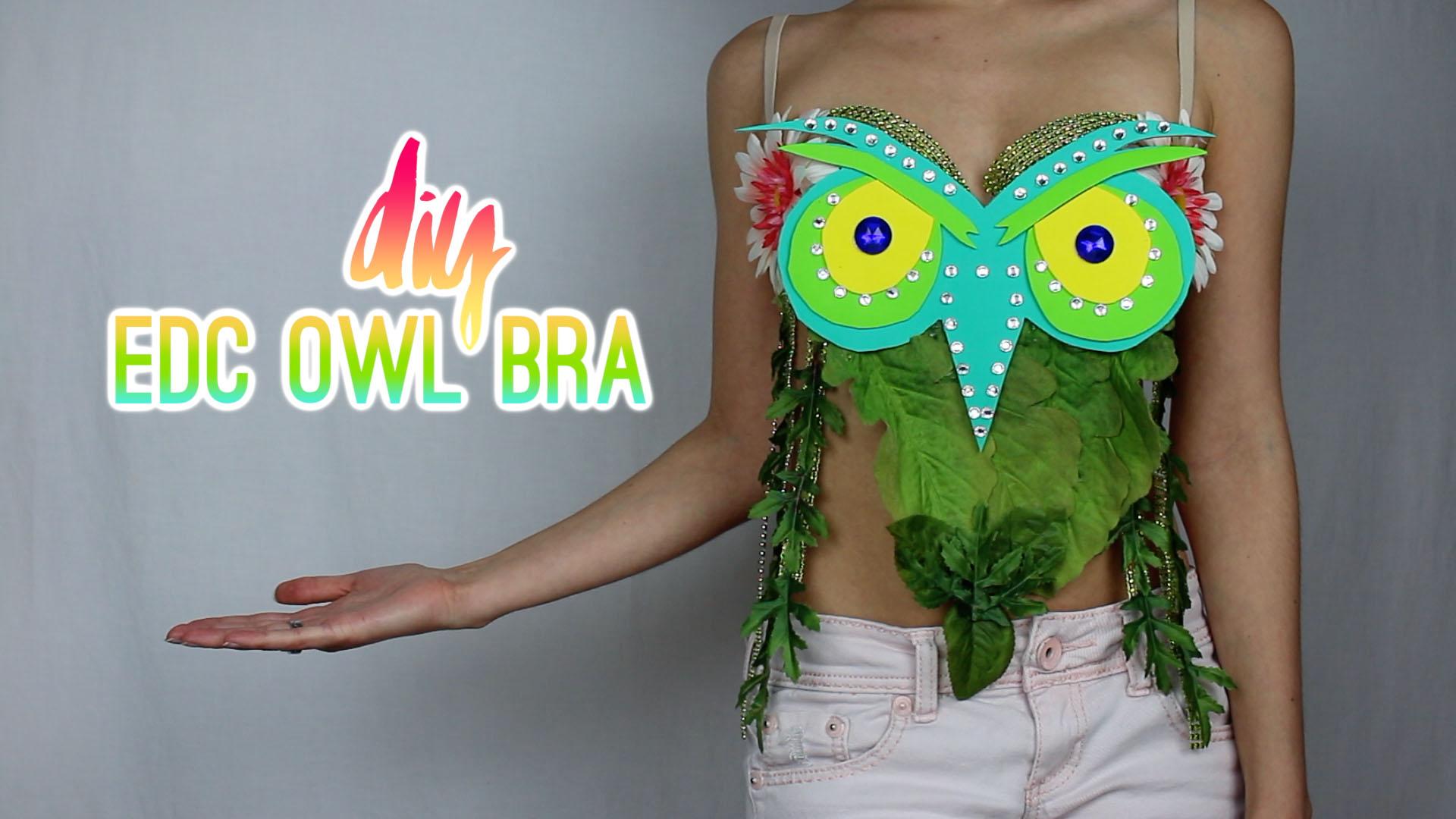 DIY EDC Insomniac Owl Rave Bra