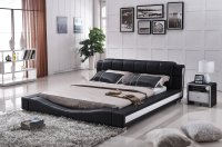 NEW Liam Black and White Faux Leather Contemporary ...