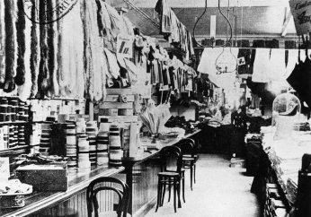Haberdashery and glove department at T.C. Beirne