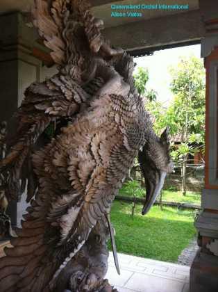 Wood Carving of Garuda (1)