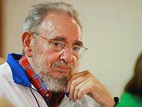 Foto reciente del líder Fidel Castro de Cuba. PL