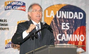 Antonio Ledezma, alcalde de Caracas, Venezuela.