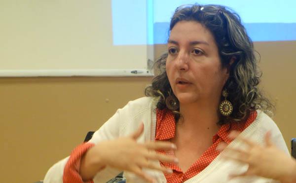 Sonia Inés Orrego, profesora y activista en las comunas de Medellín. Foto Javier Castaño