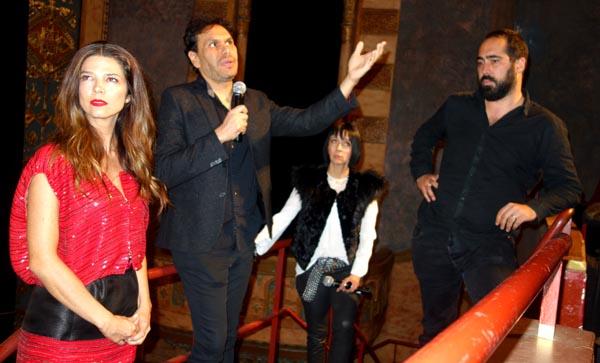 Después de la presentación de la película ANNA, la actriz Juana Acosta, Juan Carvajal, Diana Vargas, productora de festivales de cine en Nueva York, y el director Jacques Toulemonde. Fotos Javier Castaño