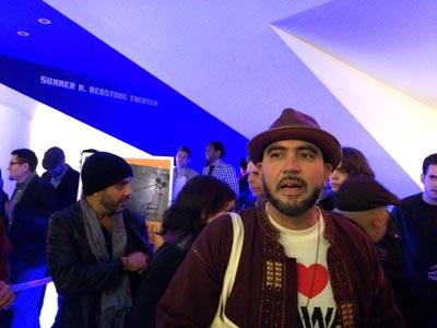 El director David Maldonado la noche del estreno en Queens World Film Festival. Foto Marcela Álvarez