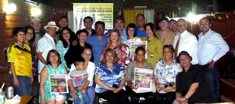 Para celebrar su sexto aniversario, QueensLatino realizó una reunión en el restaurante Adelita de Woodside, Queens, a la cual asistieron colaboradores y amigos de quienes trabajan en esta publicación.