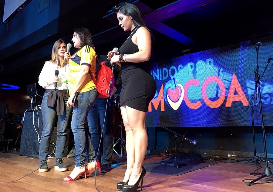 Desde la izquierda, María Isabel Nieto, Nelly López y