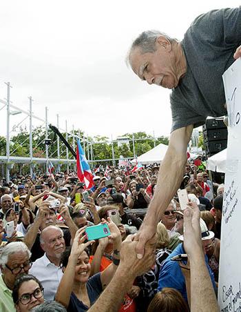 Oscar López Rivera in Rio Piedras, Puerto Rico.