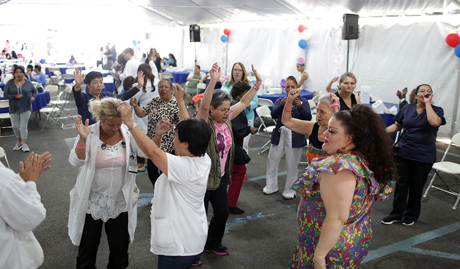 Patients and staff enjoyed singing and dancing at NYC Health + Hospitals/Elmhurst's National Cancer Survivor's Day event on June 15th.