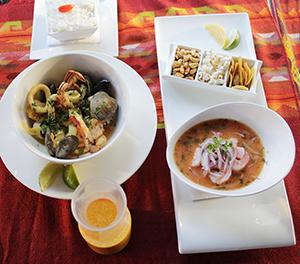 La comida de mar es una de las especialidades de Sabor Latino. Foto Mauricio Hernánez