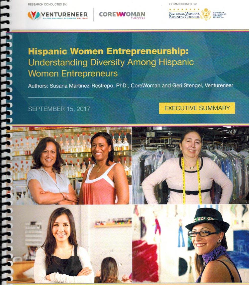 Portada del informe sobre las empresarias latinas en los Estados Unidos.