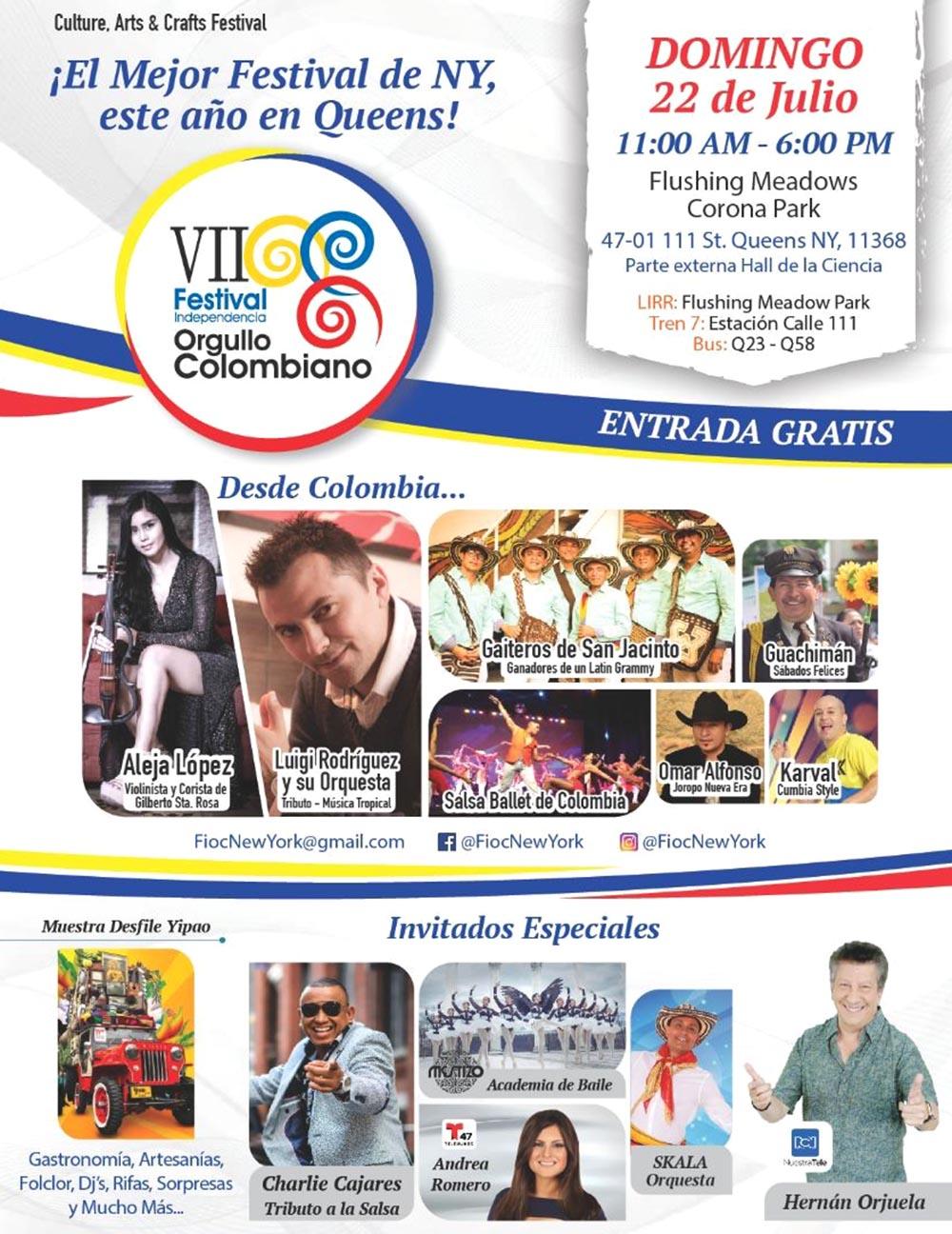 Festival Orgullo Colombiano Flushing 2018