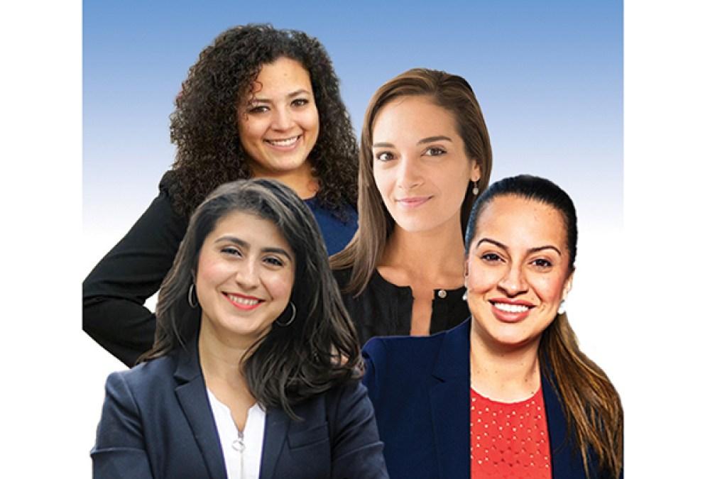 Desde la izquierda, Jessica Ramos, Nathalia Fernández, Julia Salazar y Catalina Cruz. Imagen QueensLatino