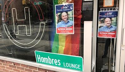 Alfonso Quiroz es un desconocido en la comunidad de Queens y durante su campaña se limitó a pegar carteles para llamar la atención de los votantes. Foto Javier Castaño
