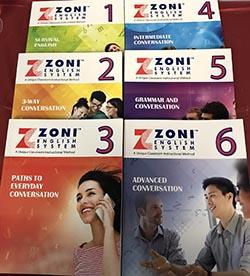 Los libros que usa ZONI.