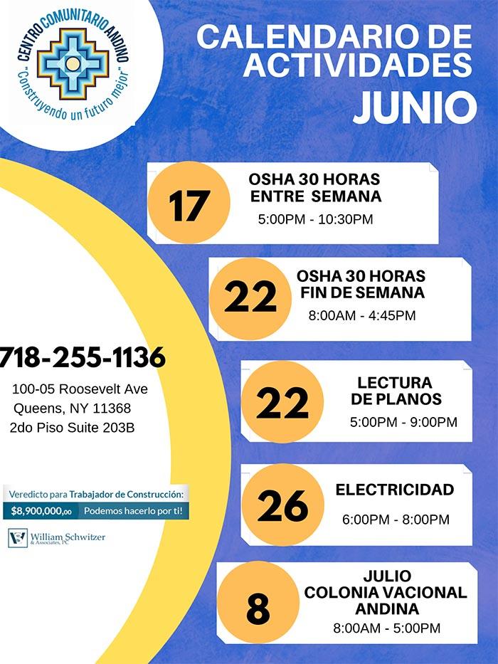 Centro Comunitario Andino con clases para trabajadores de construcción