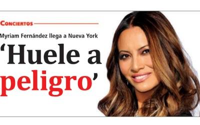 Cantante Myriam Hernández en Nueva York