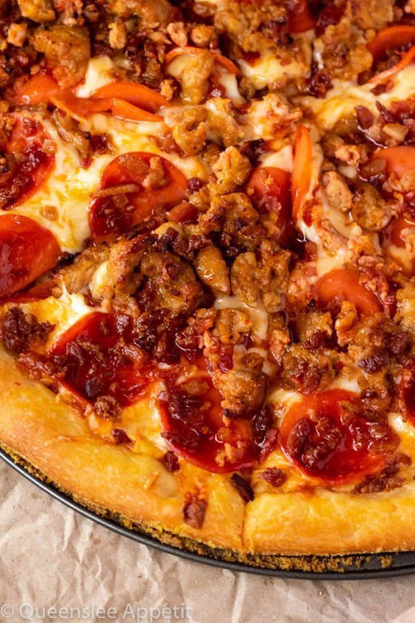 Meat Lover's Pizza | Baked by Rachel