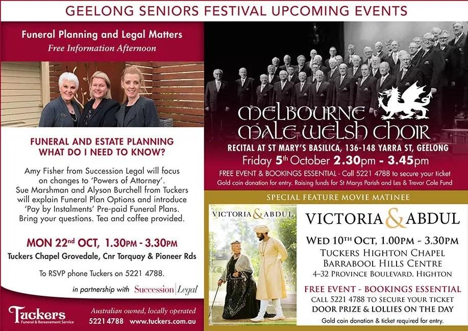 Geelong Seniors Festival October 2018