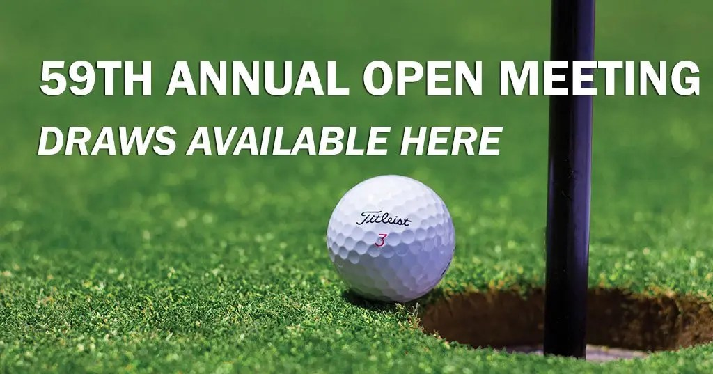 59TH ANNUAL OPEN MEETING DRAWS