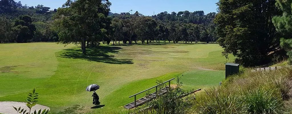 Queens Park Golf Course View from 15th
