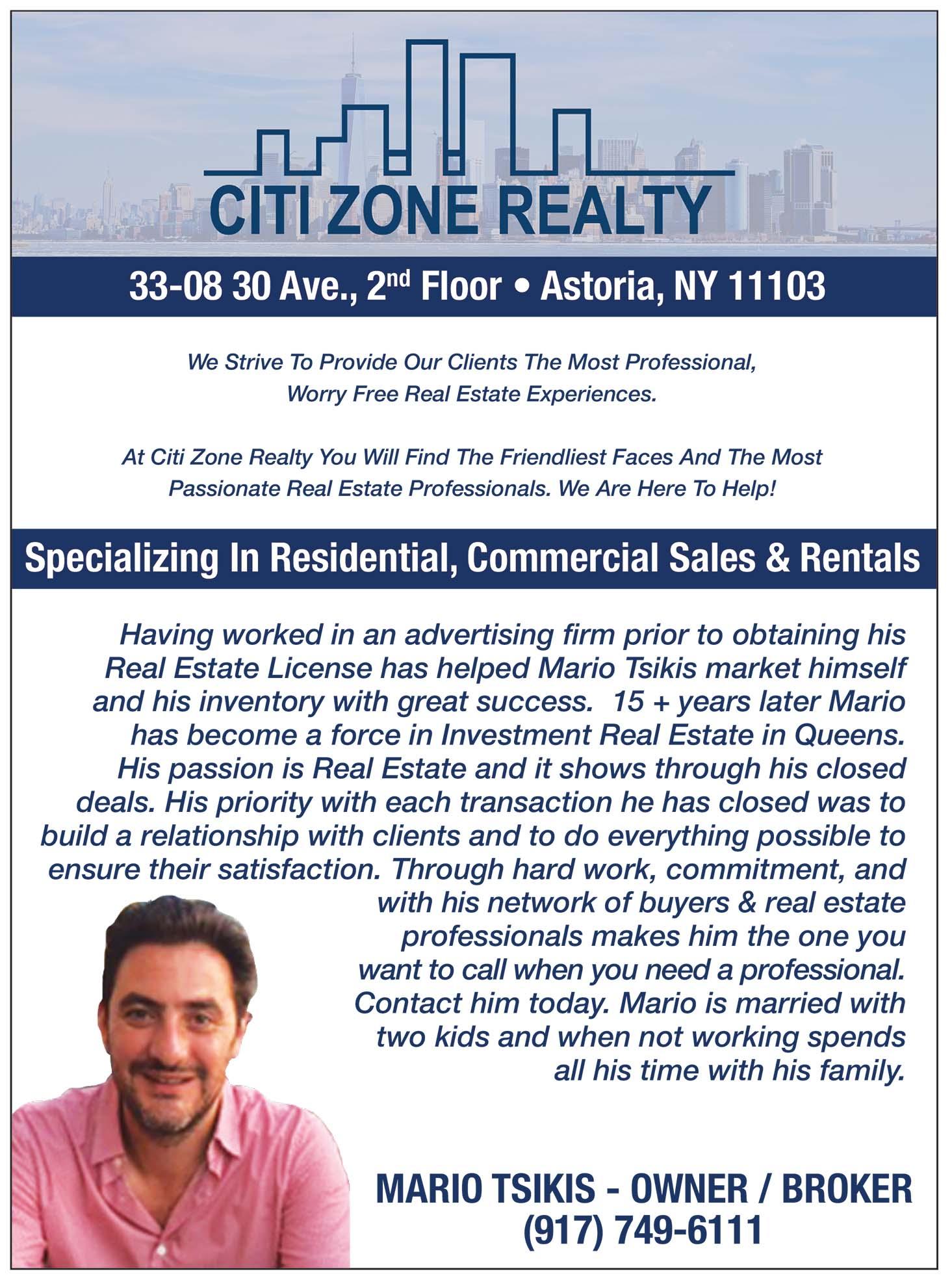 Citi Zone Realty Realtor Ad