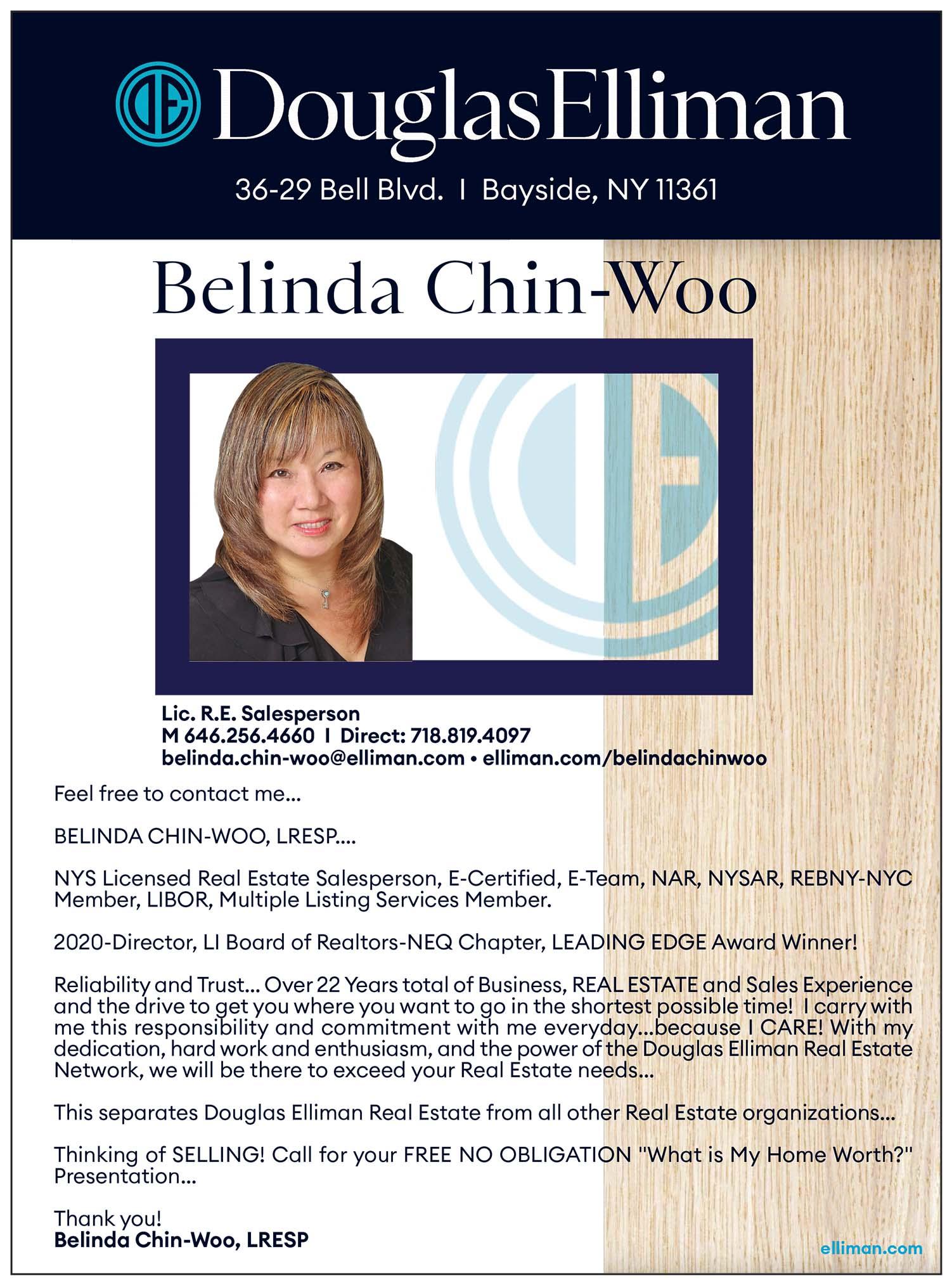 Belinda Chin-Woo Realtor Ad