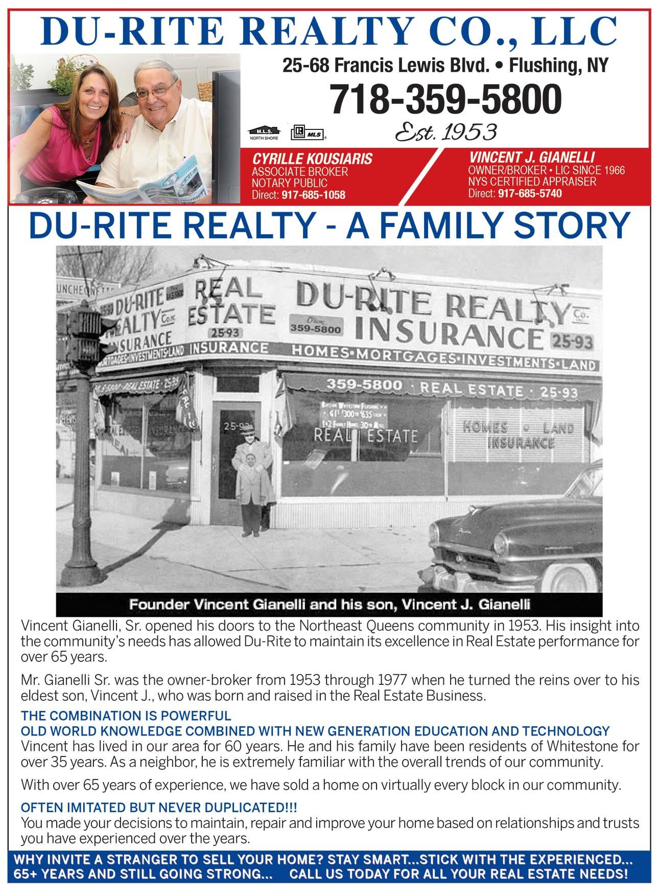 Du-Rite Realty Co., LLC Realtor Ad