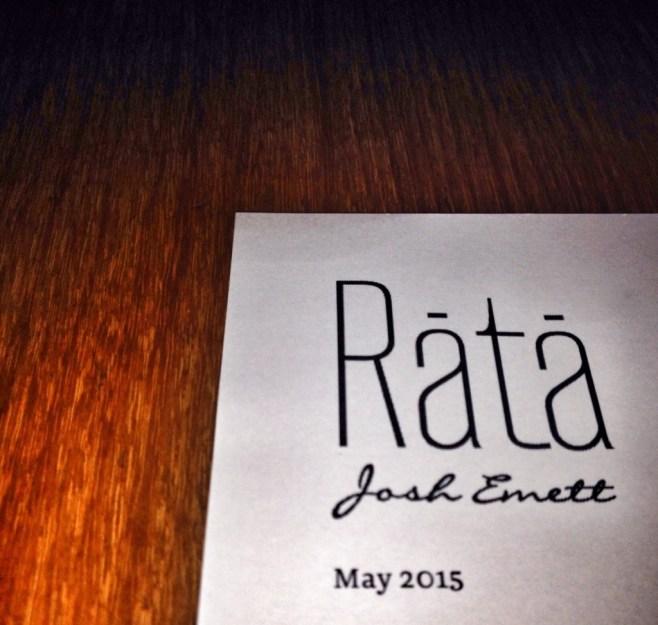 Rata Neighbourhood menu Queenstown