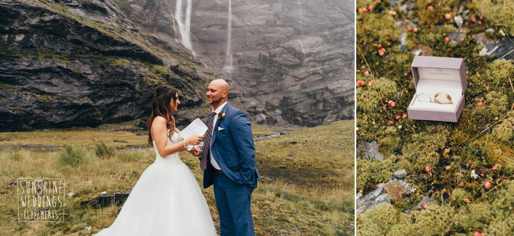 Aspiring national PArk wedding in New Zealand