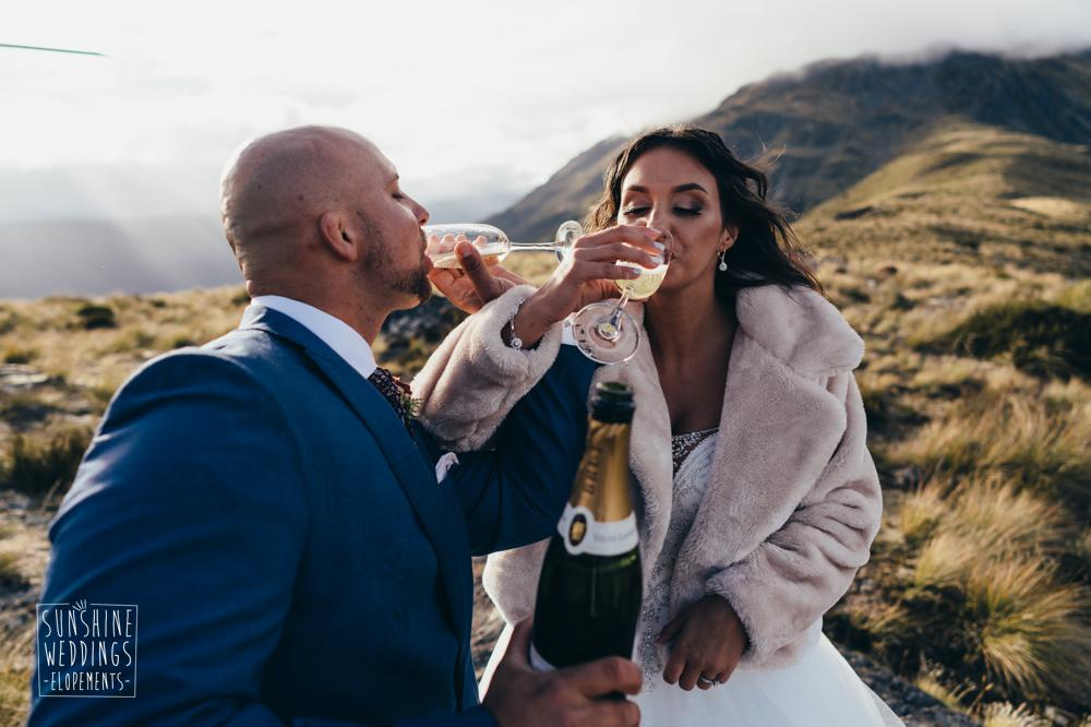 The Humboldts Queenstown mountain wedding